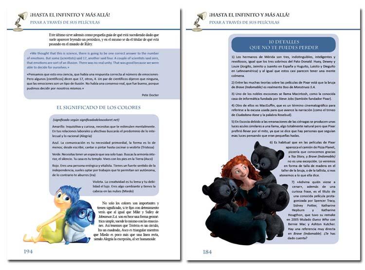 Detalles del libro 'Hasta el infinito y más allá: Pixar a través de sus películas' de Doc Pastor