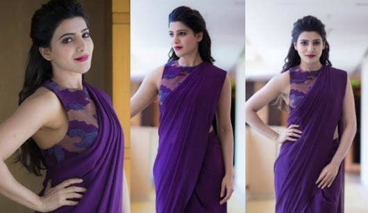 Samantha Prabhu | Stylish Saree and Blouses Designs