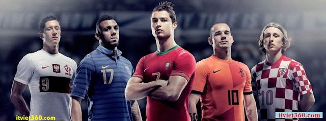Ảnh bìa Facebook bóng đá - Cover FB Football timeline, cristiano ronaldo CR7, Sneijder Hà Lan