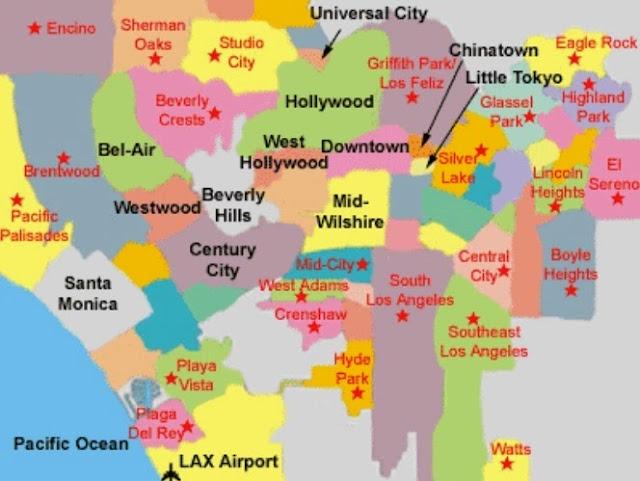 Regiões para ficar hospedado em Los Angeles