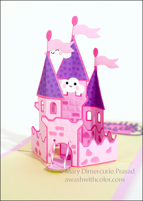 Karen Burniston Castle Pop-up with Doodlebug Design Paper Fairy Tales