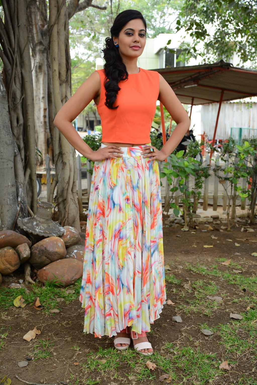 Kollywood Actress Madhavi Hot Stills In Orange Dress