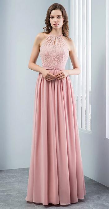 Cheap Floor Length Chiffon Bridesmaid Dresses