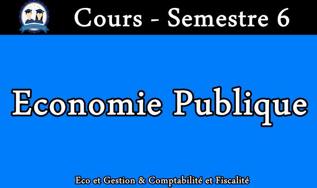 Cours Economie publique S6