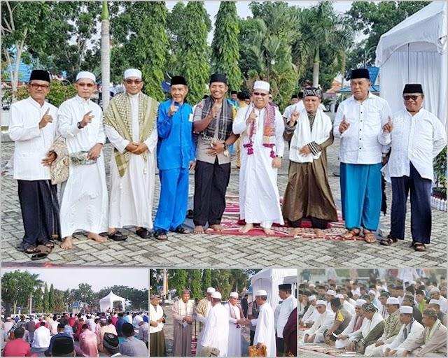 Sholat Idul Adha 1440 H Bersama Masyarakat, Bupati  Meranti Drs.H.Irwan,M.Si Ajak Masyarakat Jauhi Hal Negatif