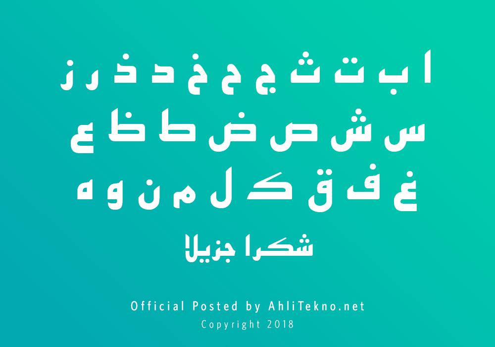 kumpulan font typography arabic keren (B Esfehan)