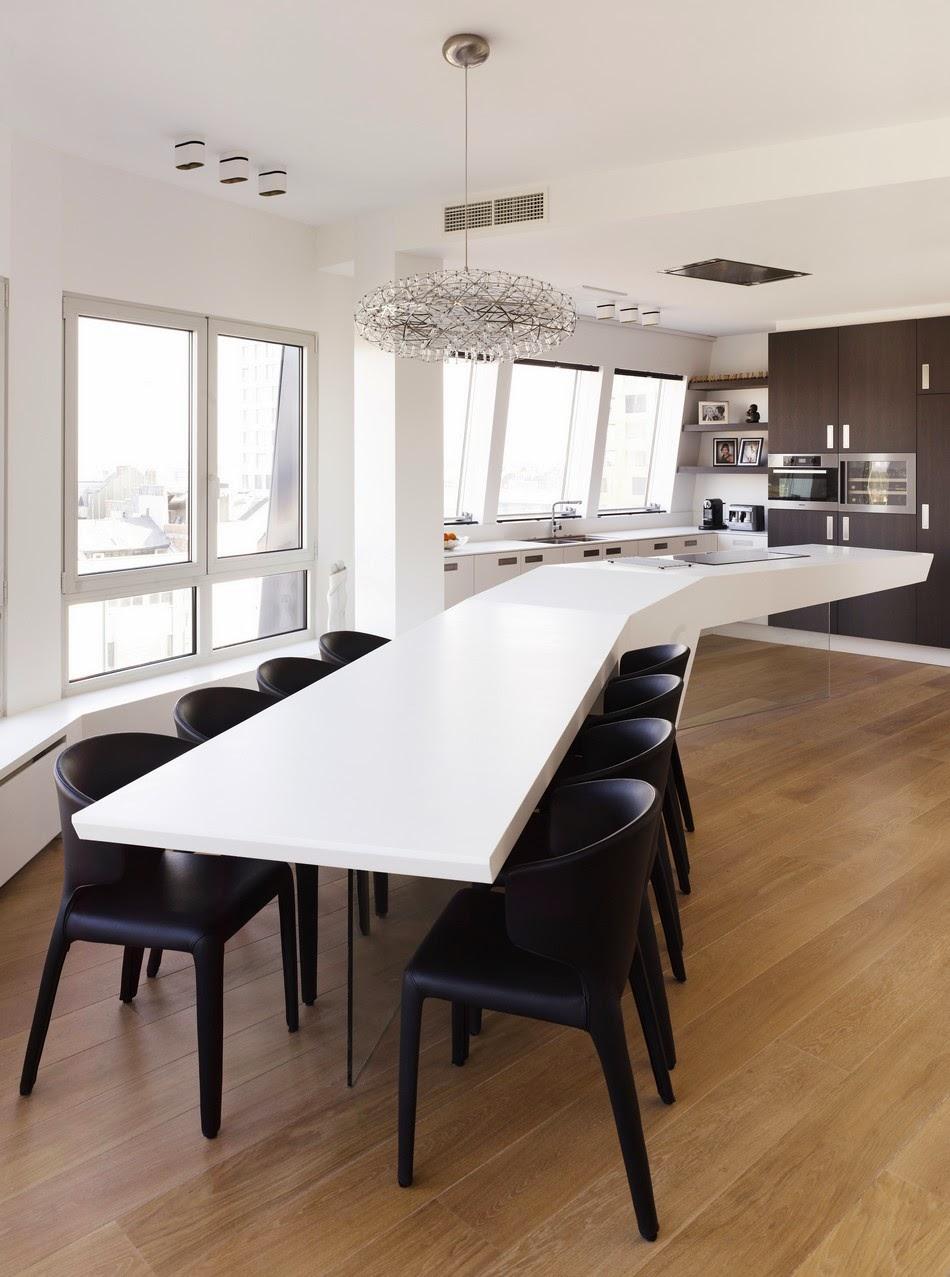 cozinha branca requintada