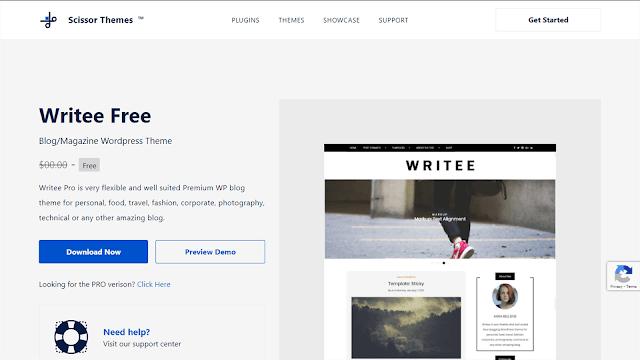 Writee WordPress Theme