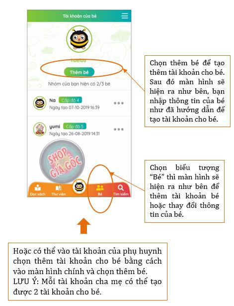 Hướng dẫn tạo tài khoản cho bé trên ứng dụng Umbalena