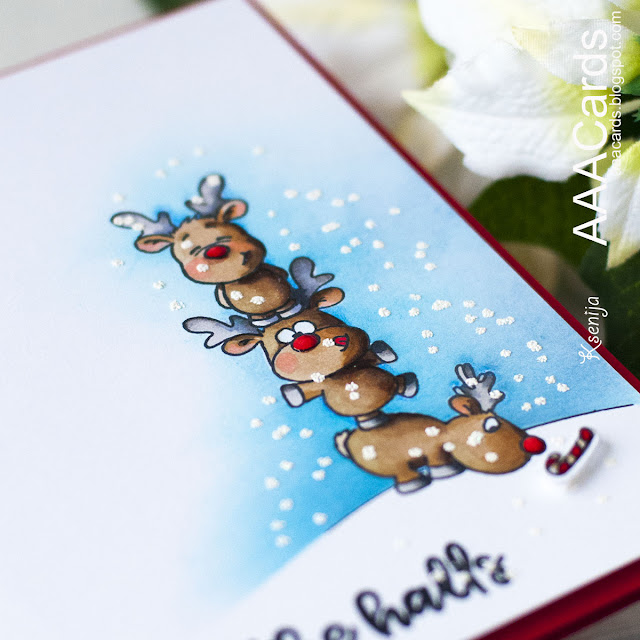 Christmas Card with Double Masking