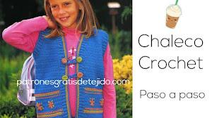 Guía de tejido de chaleco infantil de 8 a 10 años