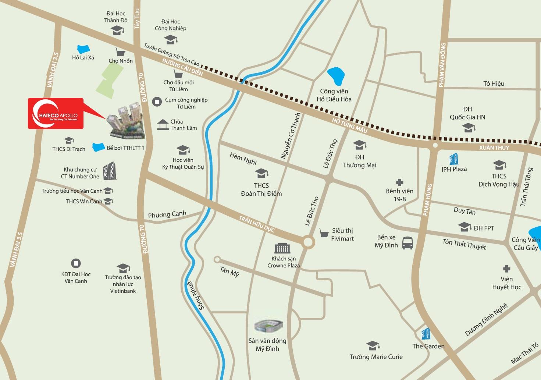 Chung cư Hateco Apollo Xuân Phương hưởng lợi lớn từ quá trình phát triển hạ tầng