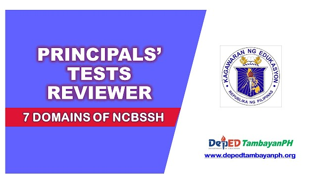 Principals' Test Reviewer covering 7 Domains of  NCBSSH