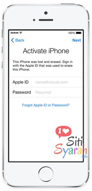 apa itu iPhone lock icloud