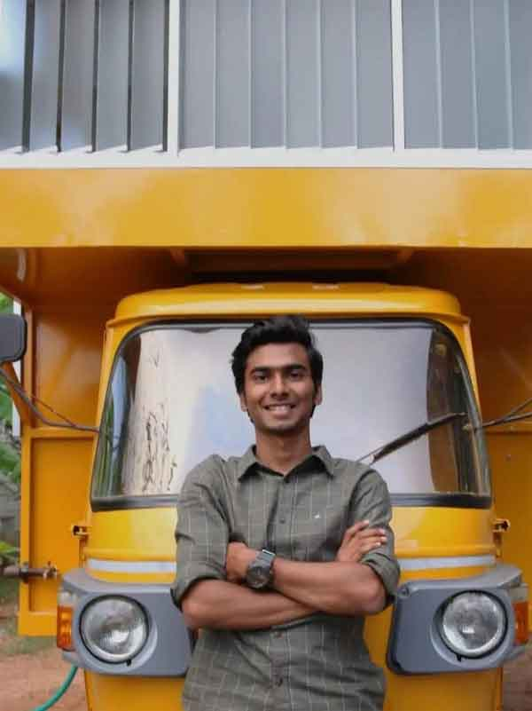 News, National, India, Chennai, Tamil Nadu, Architecture, House, Vehicles, Social Media, Viral, TN Guy Builds Stunning House On Top Of An Autorickshaw With A Bedroom, Kitchen & Toilet