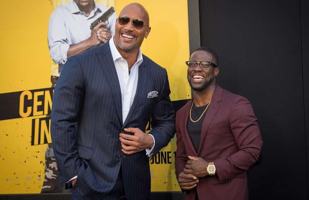 Dwayne Johnson AKA The Rock and Kevin Hart