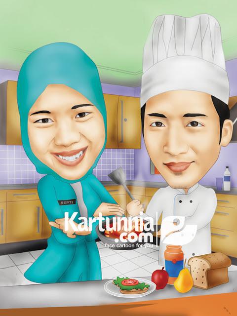 Karikatur Chef dan perawat