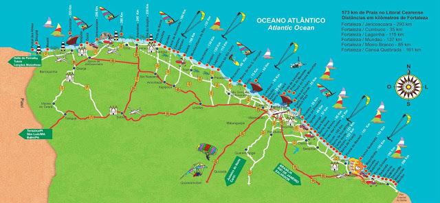Mapa litoral do Ceará