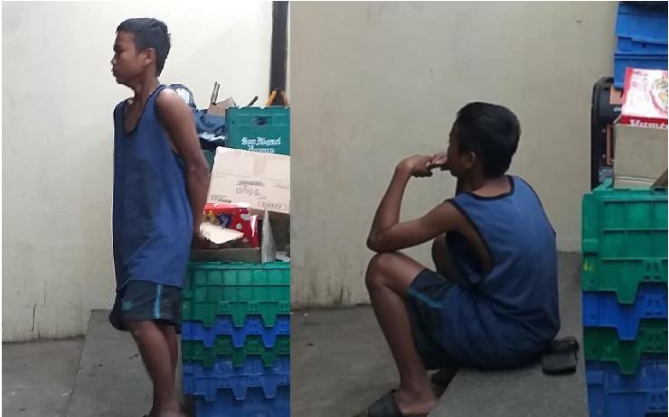 Bata, isang linggo na kumakain ng karton upang maibsan ang kanyang gutom