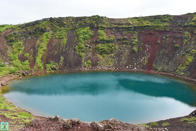 Cráter Kerid en el Círculo Dorado, Islandia