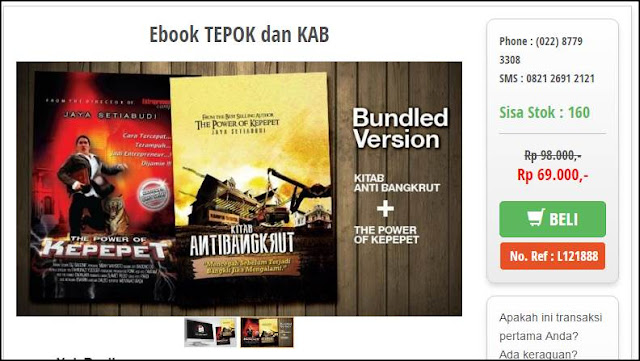Beli Buku The Power of Kepepet dan Kitab Anti Bangkrut dalam format ebook