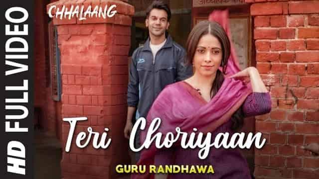 तेरी चोरियां Teri Choriyaan Lyrics In Hindi - Chhalaang