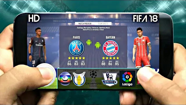 FIFA 14 MOD FIFA 18 Best Graphics 900 MB Android Offline