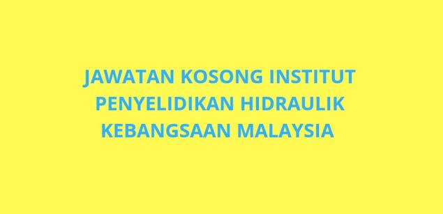 Jawatan Kosong NAHRIM 2021 Institut Penyelidikan Hidraulik Kebangsaan Malaysia