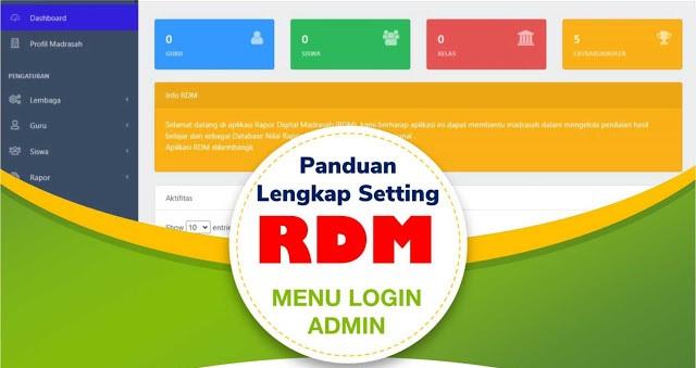 Tutorial Komplet Seting Rapor Digital Madrasah (RDM) - Fitur Login Admin