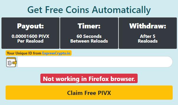 Free PIVX Autofaucet
