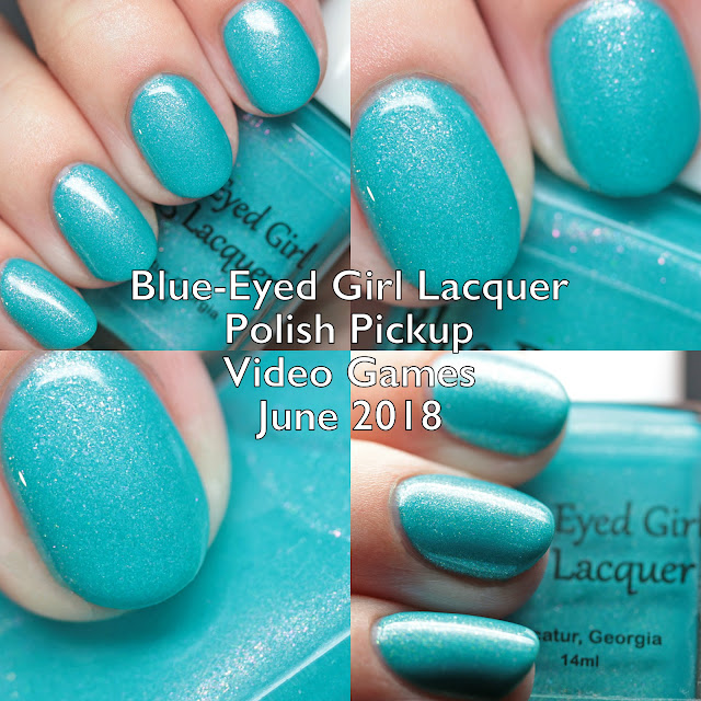 Blue-Eyed Girl Lacquer Polish Pickup Video Games June 2018