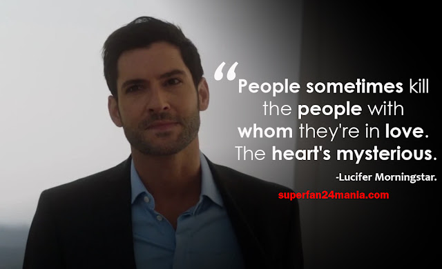 """""""People sometimes kill the people with whom they're in love. The heart's mysterious."""""""