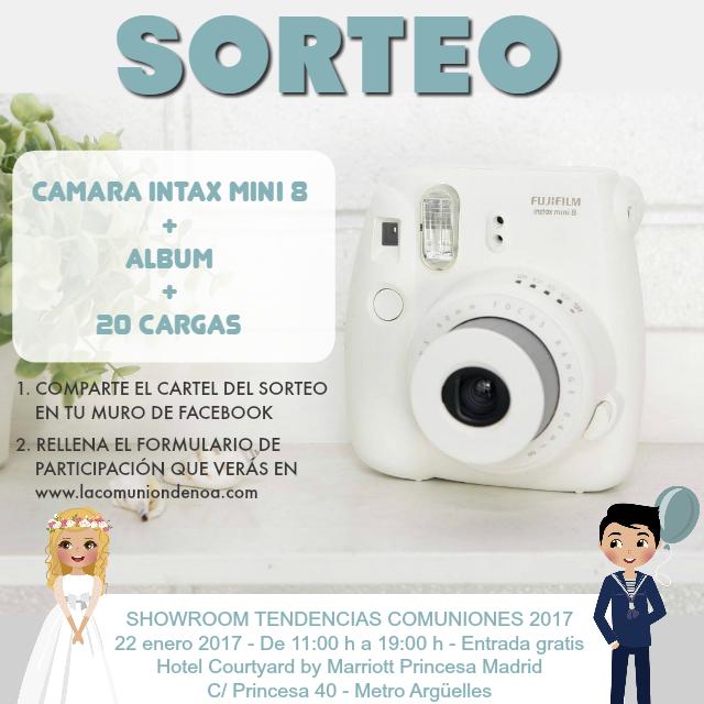 Sorteo Instax Mini 8 Fujifilm - Showroom Tendencias Comuniones 2017 - La Comunion de Noa