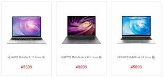 Huawei mulai menjual laptop dengan Series Matebook