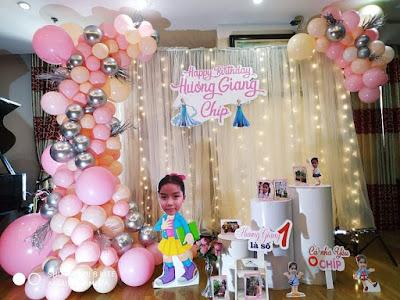 dịch vụ trang trí sinh nhật bé gái tại Ba Đình