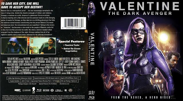 Valentine The Dark Avenger Bluray Cover