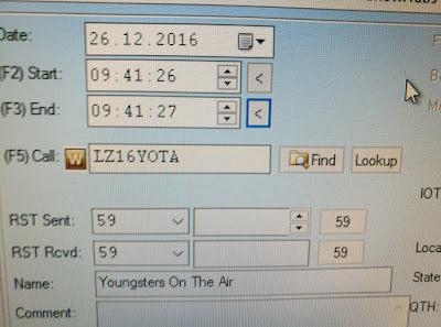 LZ16YOTA, nuorten radioamatöörien erikoiskutsu Bulgariasta