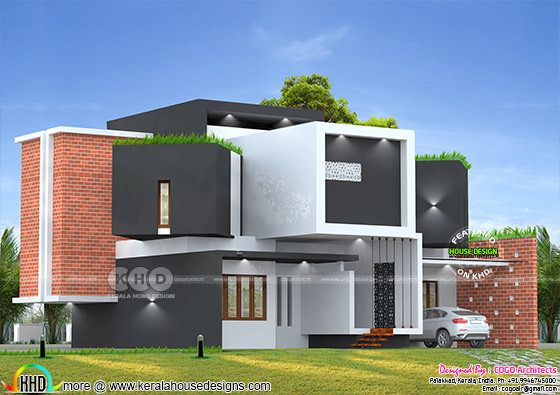 3825 square feet cool ultra modern house design