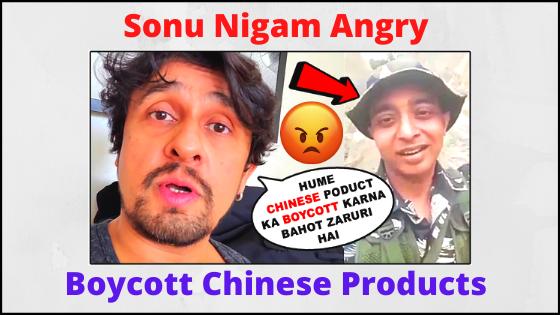 Sonu Nigam Boycott Chinese Products