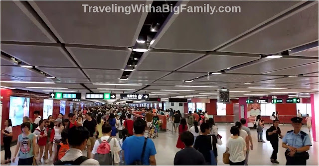 Using the MTR in Hong Kong with small children