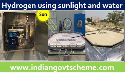 hydrogen using sunlight and water