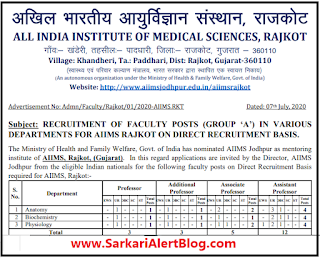 https://www.sarkarialertblog.com/2020/07/aiims-rajkot-recruitment-2020.html