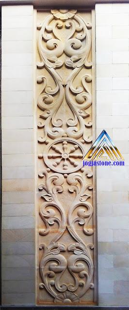 ukiran klasik untuk samping pintu dari batu alam putih
