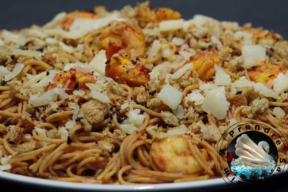 Spaghettis aux crevettes à l'italienne (pas à pas en photos)