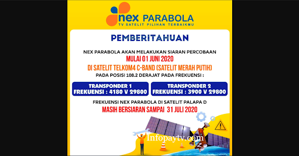 Transponder Nex Parabola Satelit Telkom 4 C Band