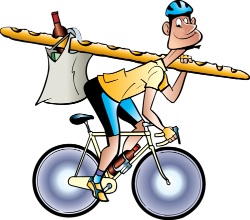 Смешные рисунки велосипедистов