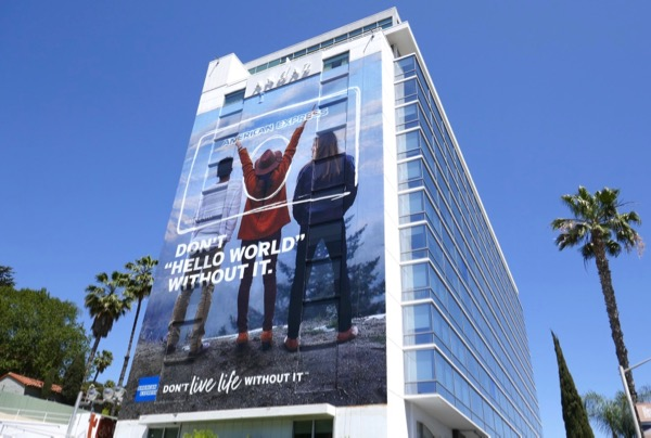 American Express Hello World billboard