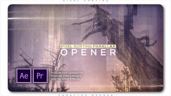 Pixel Sorting Parallax Opener | Free after effects templates