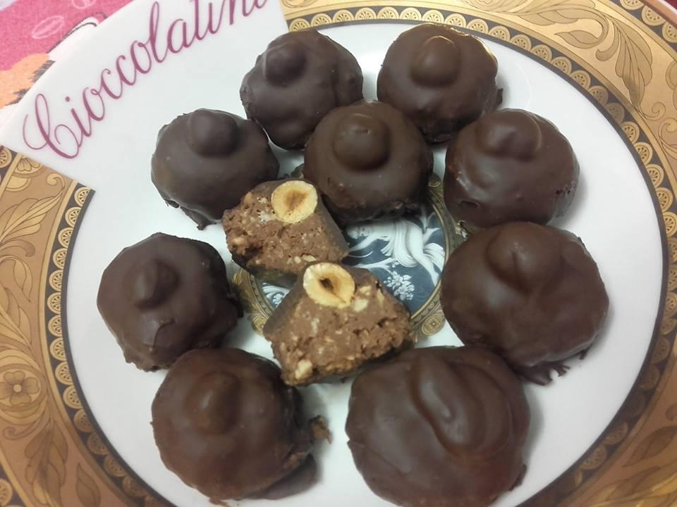 Cioccolatini con nocciole