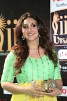 Sridevi Telugu Actressi in green Yellow Anarkali Dress at IIFA Utsavam Awards 038.JPG